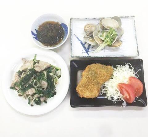 久しぶりの夕食献立(ビジネスホテル レストコーポ西浜)