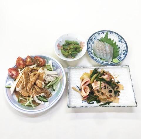 ☆日替わり夕食の献立:棒棒鶏☆(ビジネスホテル レストコーポ西浜)