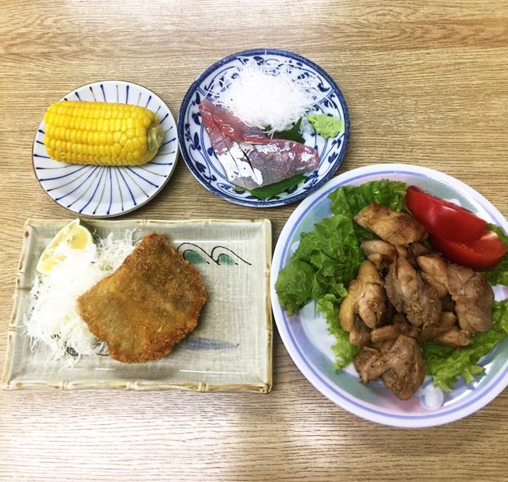 ☆日替わり夕食の献立:若鶏の香味焼き☆(ビジネスホテル レストコーポ西浜)